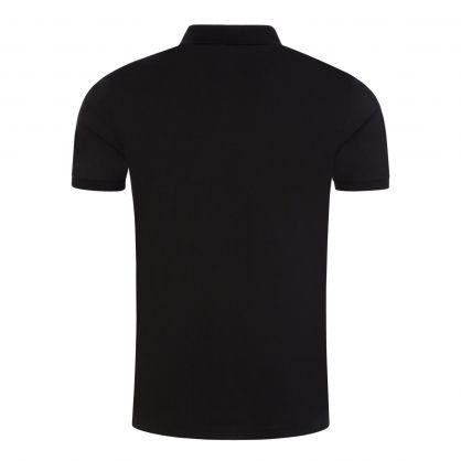 Black/Black Slim-Fit Stretch Mesh Polo Shirt
