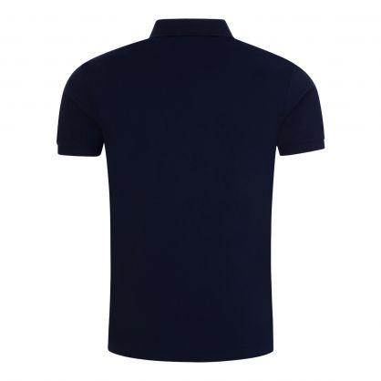 Navy Slim-Fit Stretch Mesh Polo Shirt