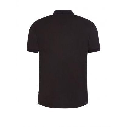 Black 1/4-Length Zip Polo Shirt
