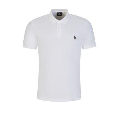 White Zebra Logo Polo Shirt