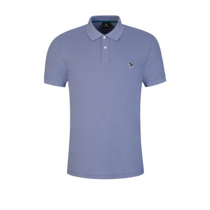 Pale Blue Zebra Polo Shirt