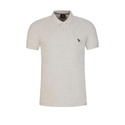 Beige Organic Cotton Polo Shirt