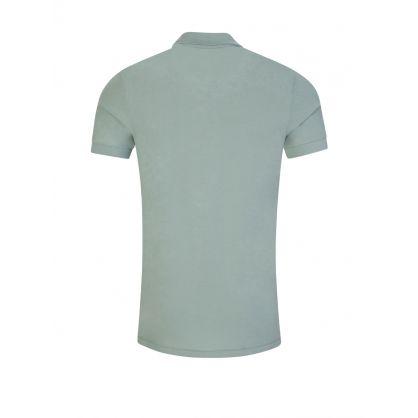 Green Organic Cotton-Piqué Zebra Logo Polo Shirt