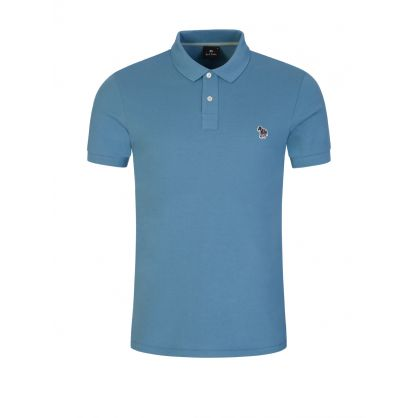 Blue Organic Cotton Polo Shirt