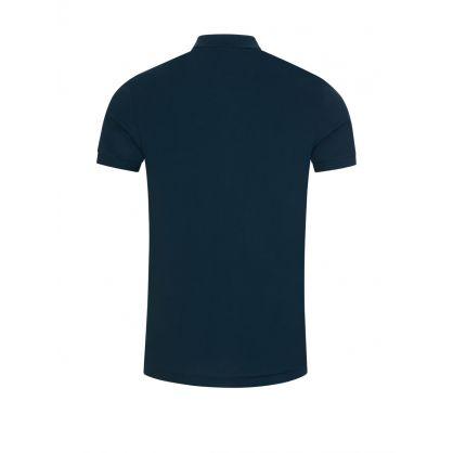 Petrol Blue Organic Cotton-Piqué Polo Shirt