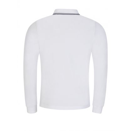 White Long-Sleeve Compass Polo Shirt