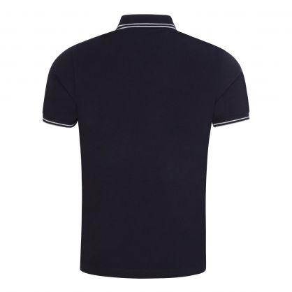 Navy Stretch Cotton Pique Polo Shirt