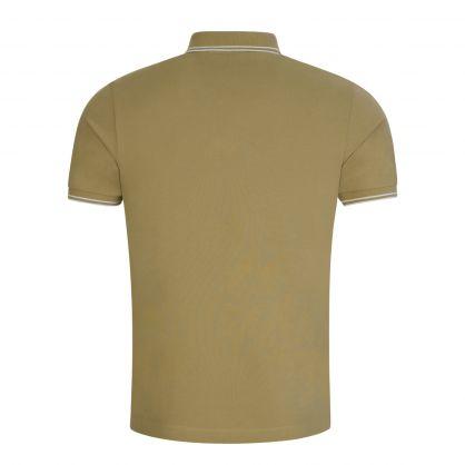 Dark Beige Cotton Piqué Polo Shirt