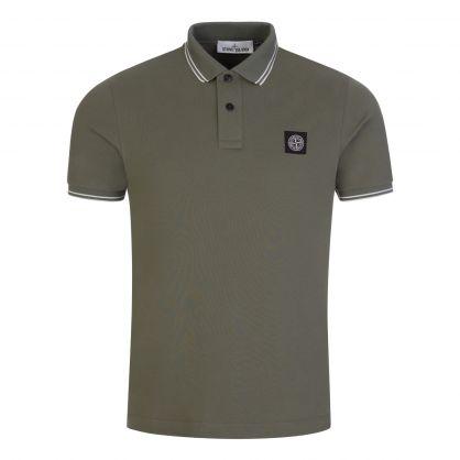 Green Cotton Pique Polo Shirt