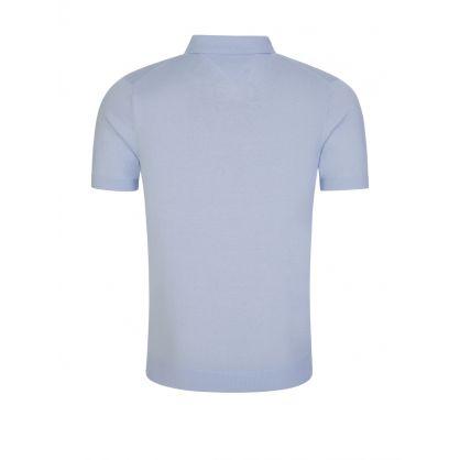 Light Blue Tonal Collar Knitted Polo