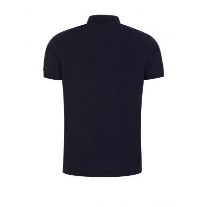Navy RWB Shoulder Detail Polo Shirt
