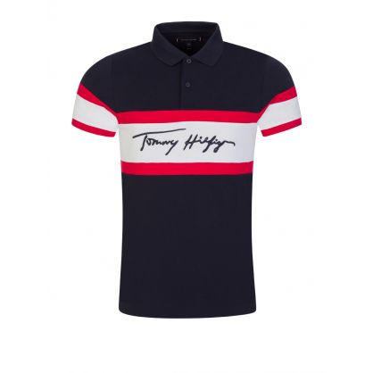 Navy Slim-Fit 1985 Signature Polo Shirt