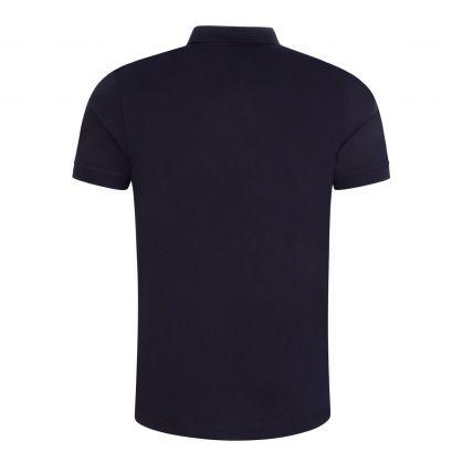 Navy Stripe Placket Jersey Polo Shirt