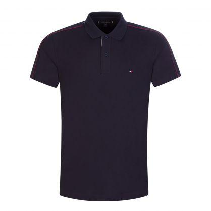 Navy Clean Sleeve Tape Polo Shirt