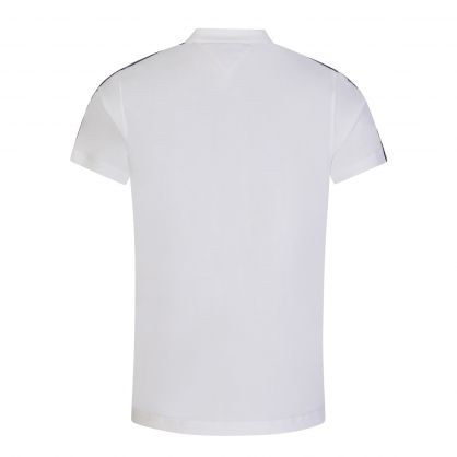 White Clean Sleeve Tape Polo Shirt