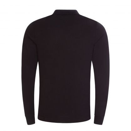 Black Slim Fit Jersey Cotton Polo Shirt