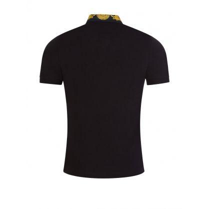 Black Baroque Polo Shirt