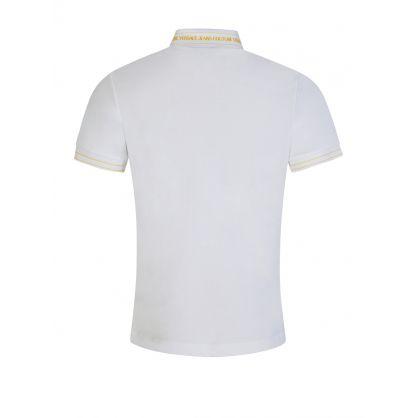 White Rubber Logo Polo Shirt