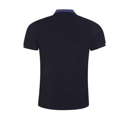 Navy Classic Stripe Collar Polo Shirt