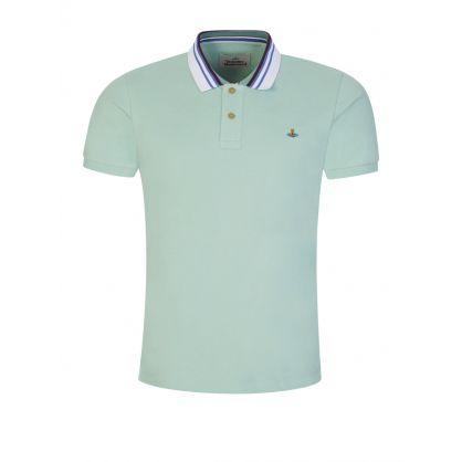 Green Classic Polo Stripe Collar