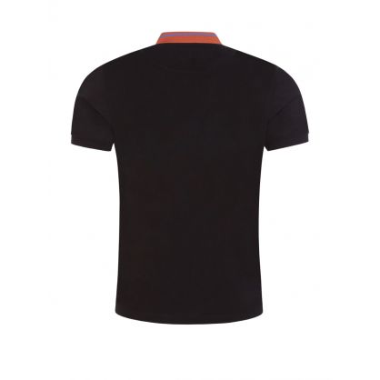 Black Classic Stripe Collar Polo Shirt