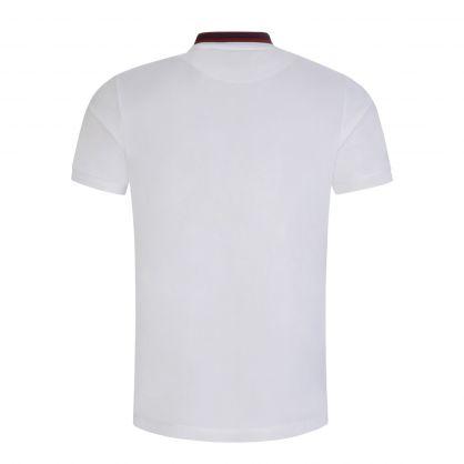 White Stripe Collar Classic Polo Shirt