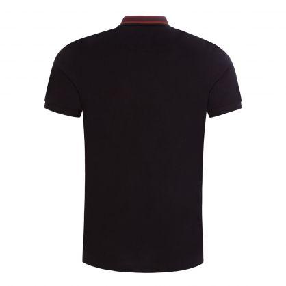 Black Stripe Collar Classic Polo Shirt