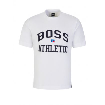White BOSS Athletic T-Shirt