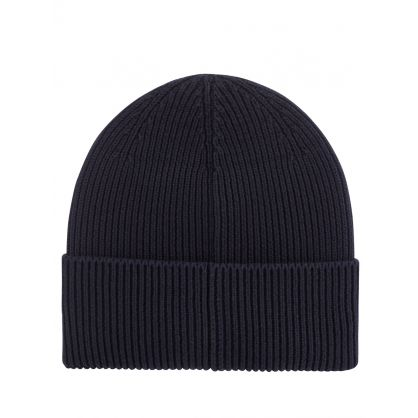 Dark Blue Fussell Beanie Hat
