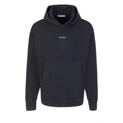 Black Oversized Popover Sweatshirt Hoodie