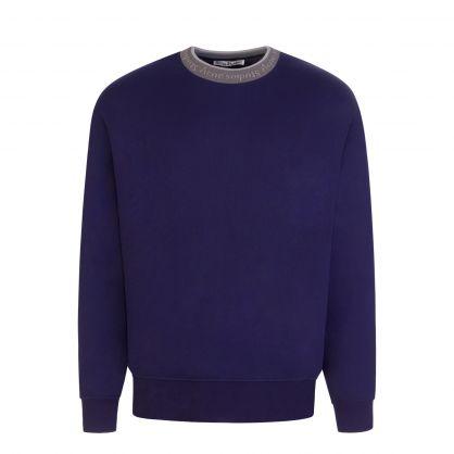 Indigo Logo Collar Sweatshirt