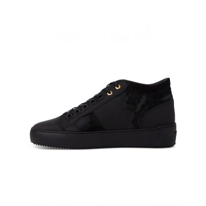 Black Low-Top Propulsion Mid Geo Trainers