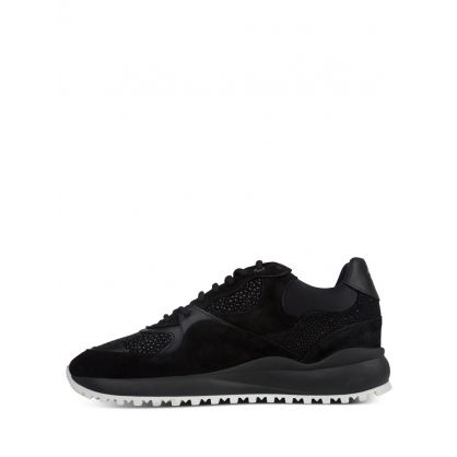 Black Malibu Stingray Suede Trainers