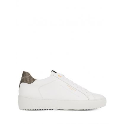 White Vivid Zuma Leather Trainers