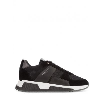 Black Matador Limonta Flocked Viper Trainers