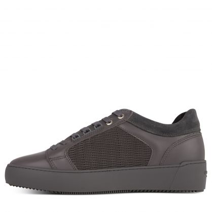 Grey Stretch Woven Venice Trainers
