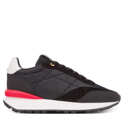 Black/Red Suede/Nylon Marina Del Ray Trainers