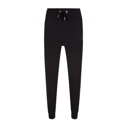Black Foil-Print Sweatpants