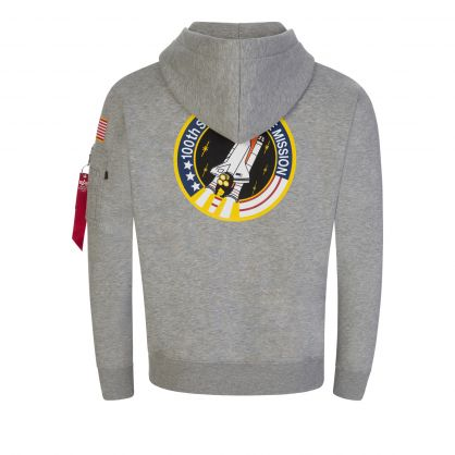 Grey Space Shuttle Popover Hoodie