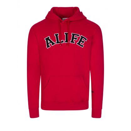 Red Collegiate Hoodie