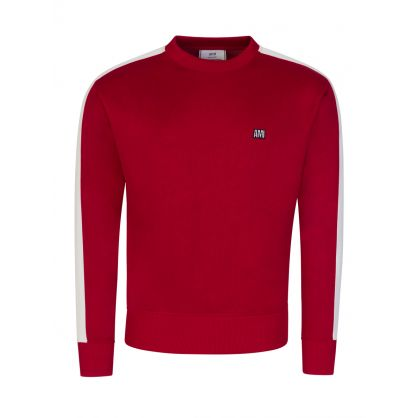 AMI Red Tec Embroidered Sweatshirt