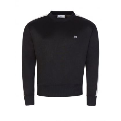 AMI Black Tec Embroidered Sweatshirt