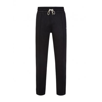 AMI Black Tec Embroidered Sweatpants