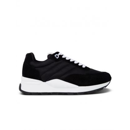 AMI Black Mesh/Suede Spring Trainers