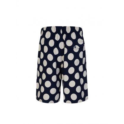 Navy/White Polka Dot Bermuda Shorts