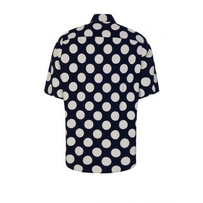 Navy/White Polka Dot Shirt