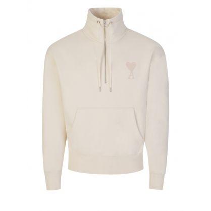 Off White AMI de Coeur  Zipped Sweatshirt