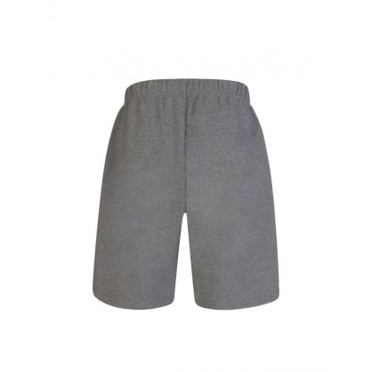 AMI Grey Embroidered Logo Fleece Track Shorts