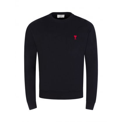 Ami De Coeur Black Cotton Fleece Sweatshirt