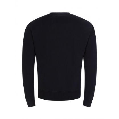 Black Ami de Coeur Cotton Fleece Sweatshirt